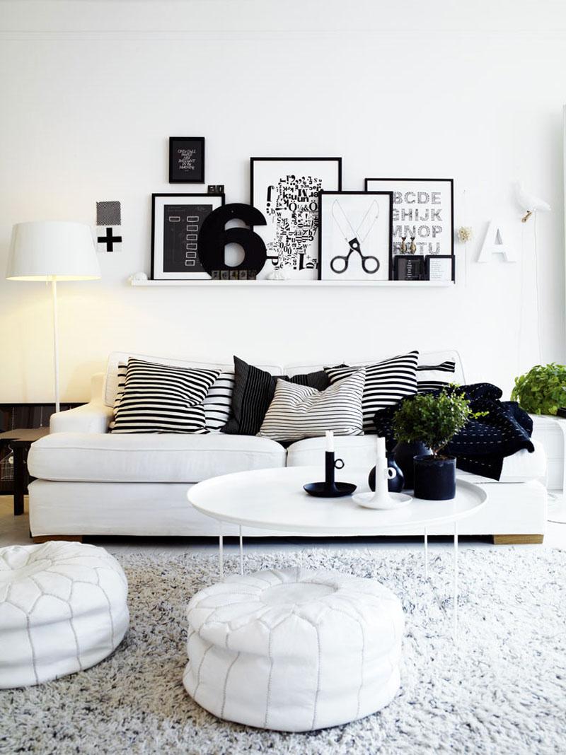 bílá barva v interiéru