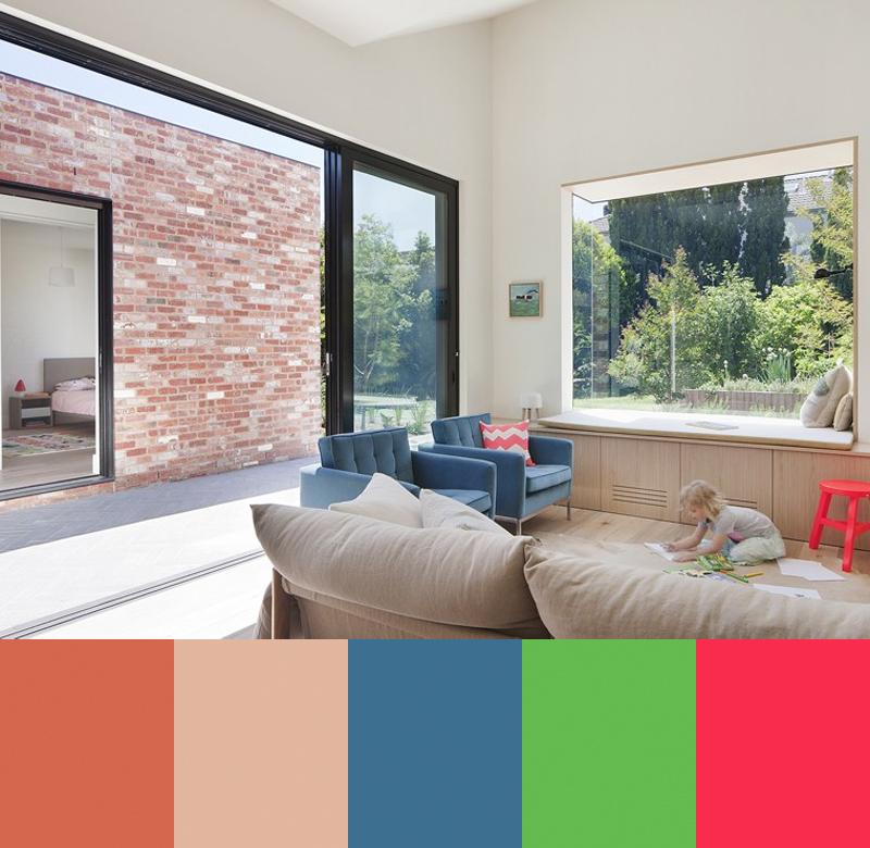 barevné kombinace v interiéru