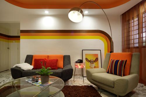 obývací pokoj retro
