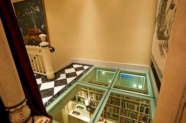 skleněná podlaha