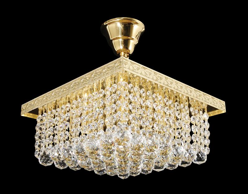 křišťálový lustr na strop