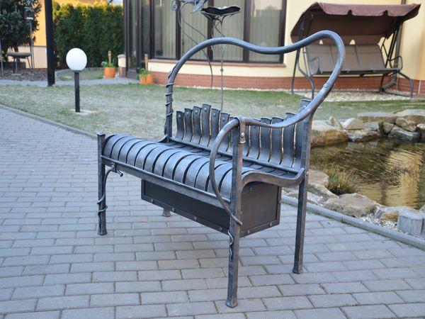 kovaná lavička