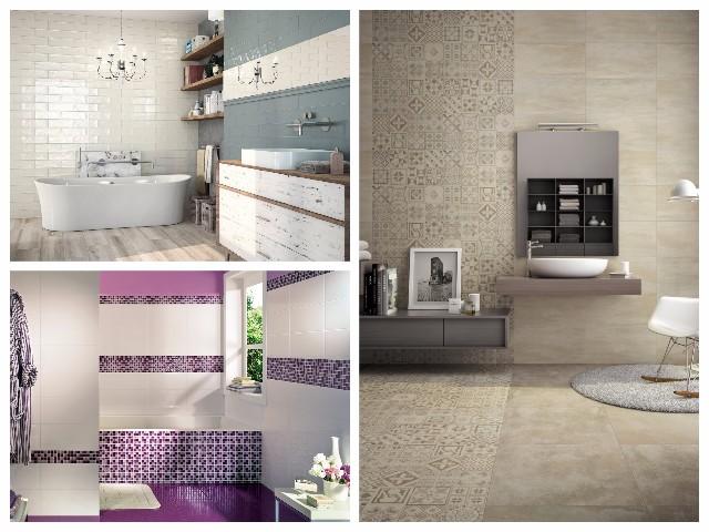 Jednobarevné obklady doplňte mozaikou nebo jednoduchým dekorem