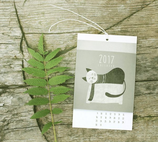 black-and-white-cat-design-calendar-600x542